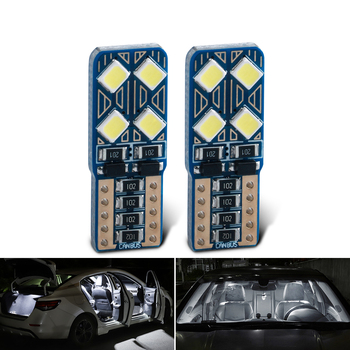Canbus No error T10 W5W 2835 Led Bulbs License Plate Light Signal Lamp 168 194 2/4/6/8/10 SMD Car Interior Lights White 6000K image