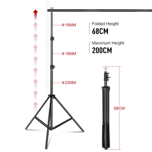 Image 2 - Photo Background Backdrop Stand Support System Kit Heavy Duty Adjustable With Carrying Case For Muslin Photo Video Studio