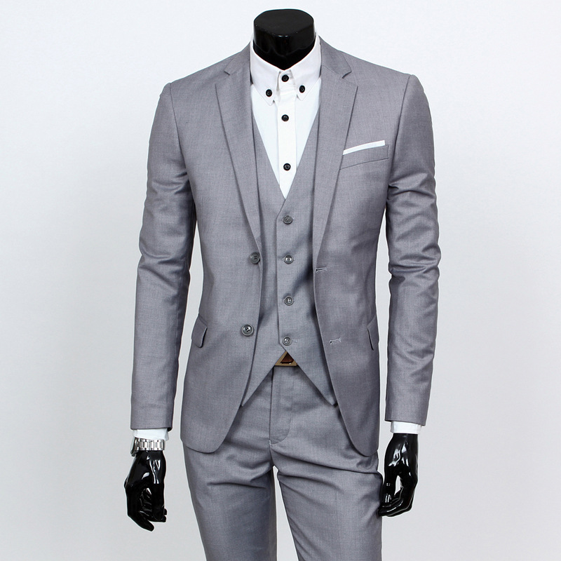 Men Casual Groom Clothing Marriage Suit Men's Slim Fit Korean-style Suit Business Evening Show British-Style Coat