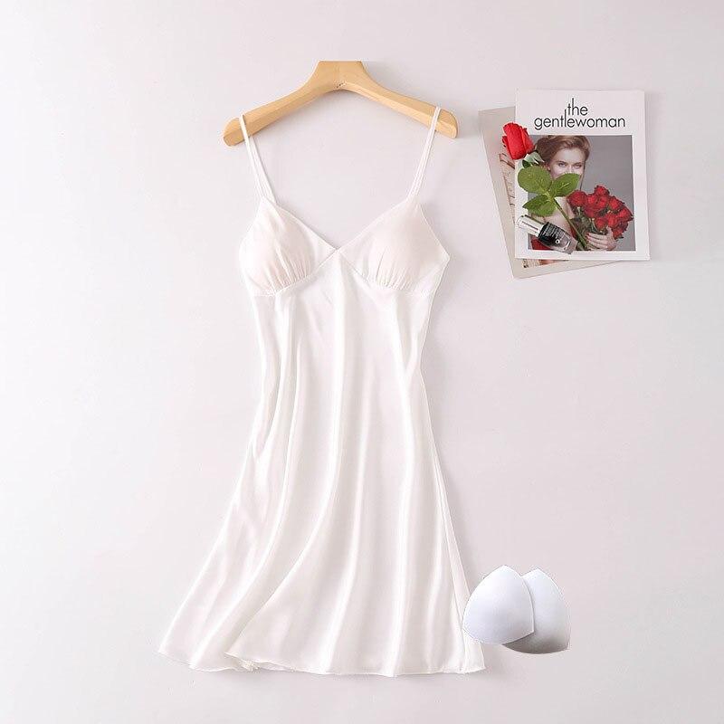 Sexy Pink Nightgown Women Satin Spaghetti Strap Lingerie Bridesmaid Bride Wedding Night Dress Sleepwear Nightdress Sleepwear