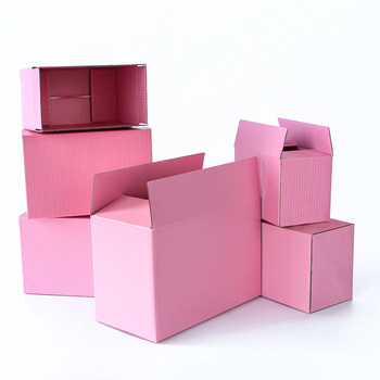 5pcs /10pcs /Pink carton storage gift corrugated paper packaging box trinkets Festival box support customized size printing logo 10pcs kraft paper box black white cardboard gift box festival party small box soap wig pull out box support printing logo
