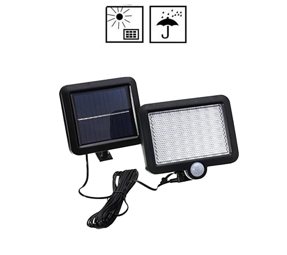 Pair waterproof Solar LED Wall Light Outdor PIR Motion Sensor Street Garden Lamp