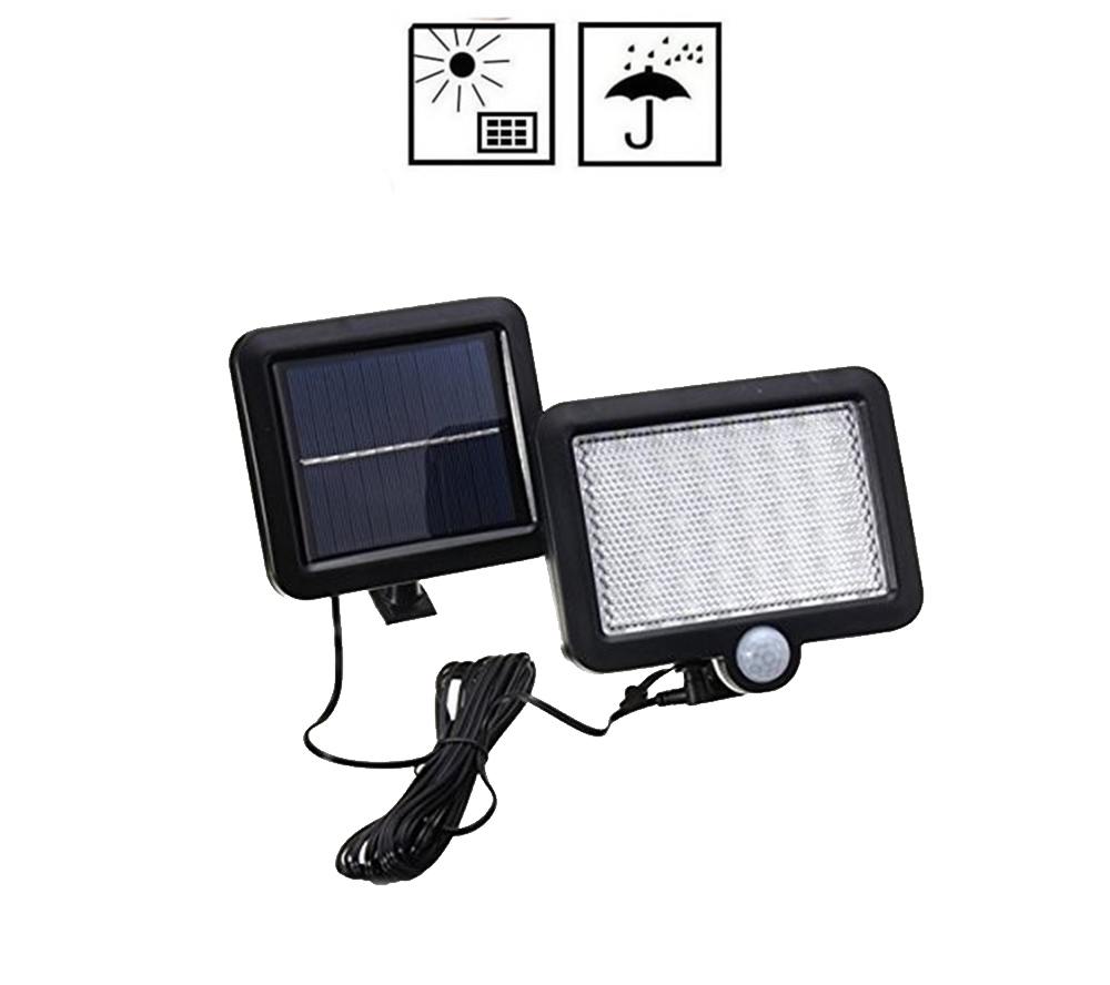 Waterproof 56/30 LED Solar Panel Power Light PIR Motion Sensor Wall Lamp Outdoor Path Yard Garden Fence Night Light Split Mount