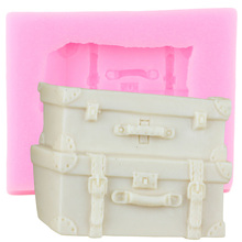 Chocolate Moulds Suitcase-Box Cake-Decorating-Tools Polymer-Clay Sugarcraft Candy Silicone