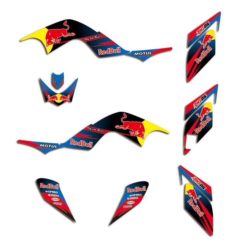 Team Decals Stickers Graphic DECO Kit For Yamaha RAPTOR 700 700R  2006 2007 2008 2009 2010 2011 2012 ATV