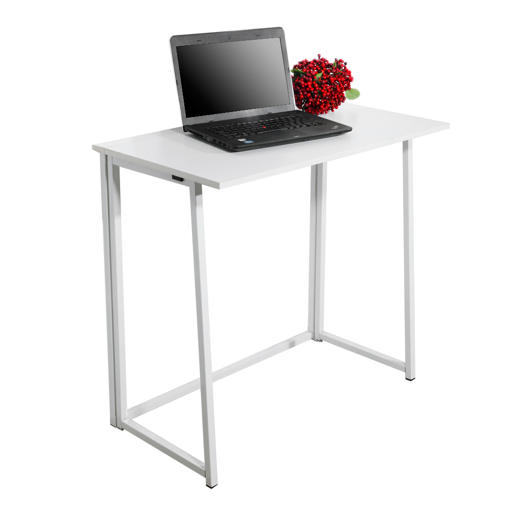 【US Warehouse】Simple Collapsible Computer Desk White(Computer Desk Table)