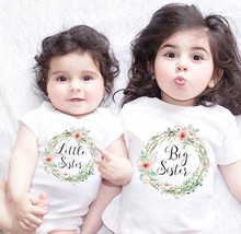 Sugarbaby New Arrival Big Sister Little Matching Clothing Funny Newborn Baby Romper Infant Cotton Short Sleeve shirt