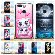 For ZTE Blade V9 Protective Case Ultra-slim Soft TPU Silicone Cover Cat Patterned Bumper Capa