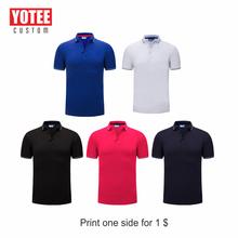 YOTEE 2019 casual business high quality short sleeve personal company group custom POLO shirt cotton men and women custom lapel