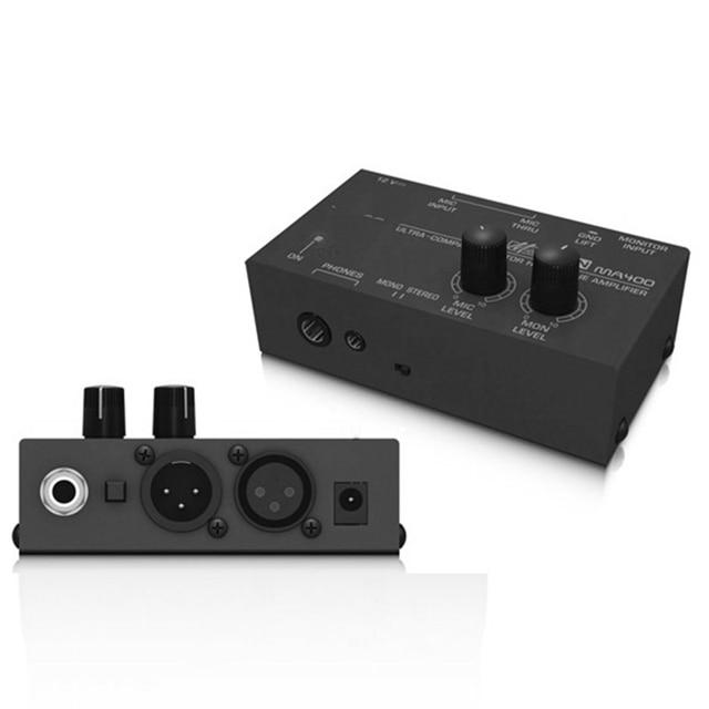 FULL-Ma400 Headphone Preamplifier Microphone Preamplifier Headphone Preamplifier Personal Monitor Mixer,Eu Plug 1