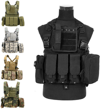 Tactical  Military Vest Airsoft Paintball Molle Combat Assault Vest Outdoor CS Game Hunting Clothing Vest multifunctional clothing stab stab tactical vest cs field outdoor photography vest fishing
