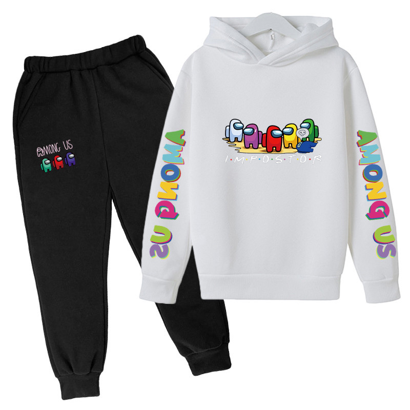 4-14 Y Girls Clothing Among Us Sets Autumn Winter Boys Girls Clothes Printing Outfit Kids Print Tracksuit For Boys Children Set 4