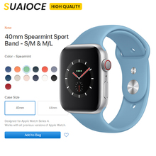Upgrade Soft Silicone Sports Band for Apple Watch Series 1 2 3 4 38MM 42MM Rubber Watchband Strap 40MM 44MM iWatch