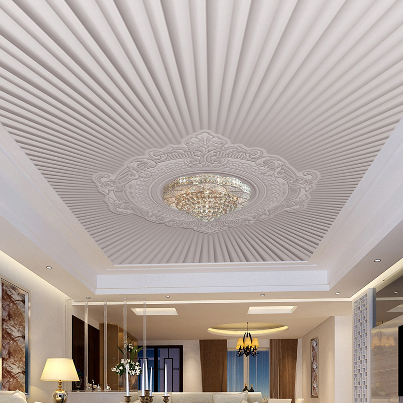 Custom 3D Photo Wallpaper Modern European Style Embossed Pattern Living Room Ceiling Fresco Wallpaper Mural Papel De Parede 3D