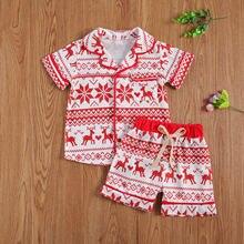 Pudcoco одежда для малышей Одежда девочек Рождественская Детская