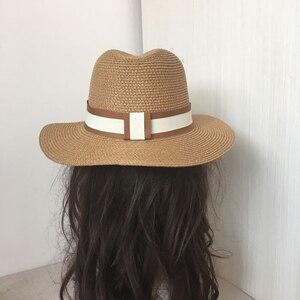 Image 4 - Sombrero de paja jazz para primavera y verano, gorro de sol transpirable, gorro de joker para viaje en la calle