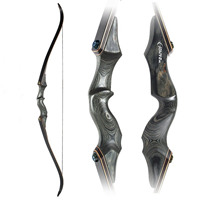 Black Hunter Traditional Beauty Hunting Reflex Bow and Arrow Outdoor Shooting Recurve Bow Wooden Split