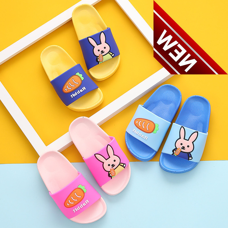 Cartoon Slippers; Girlssummer Pvc Childrens Soft Shoes; Boys Sandals; Multiple Beach Sneakers Flat-bottomed Boat