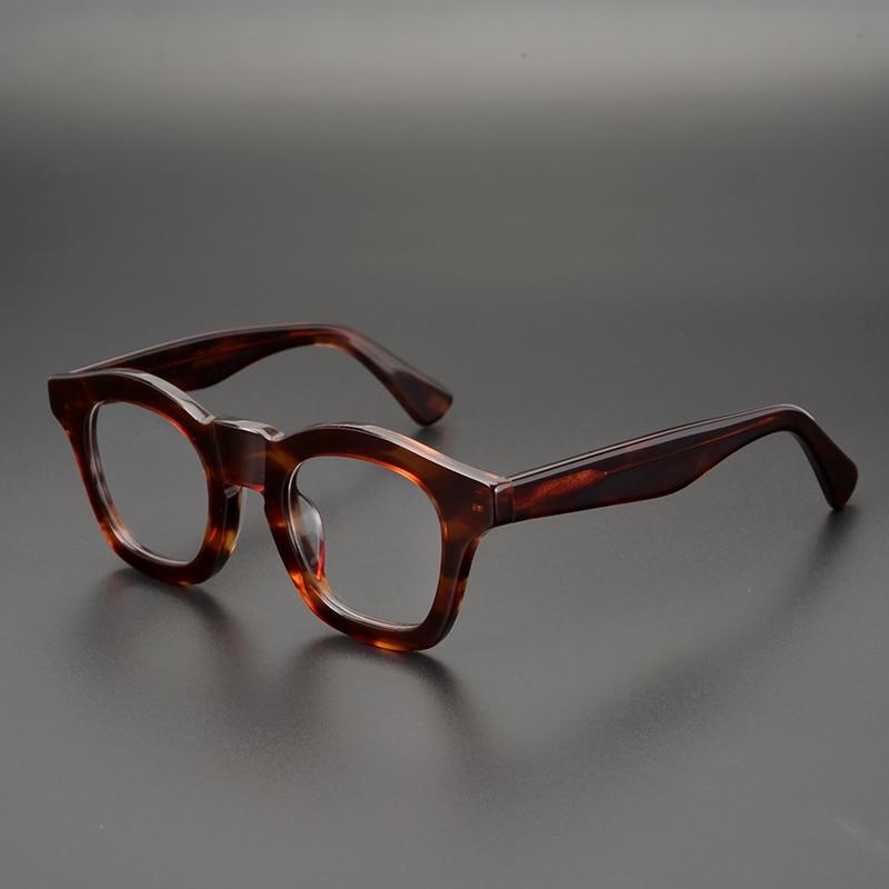 Vintage Retro Myopia Glasses Acetate Wooden Frame Clear Lenses Eyewear Unisex