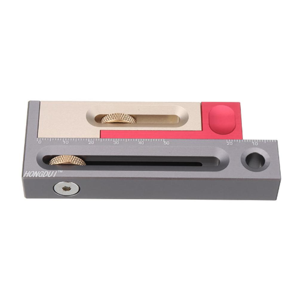Saw Table Saw Slot Adjuster Mortise And Tenon Tool Movable Measuring Block Length Compensation Woodworking Tools