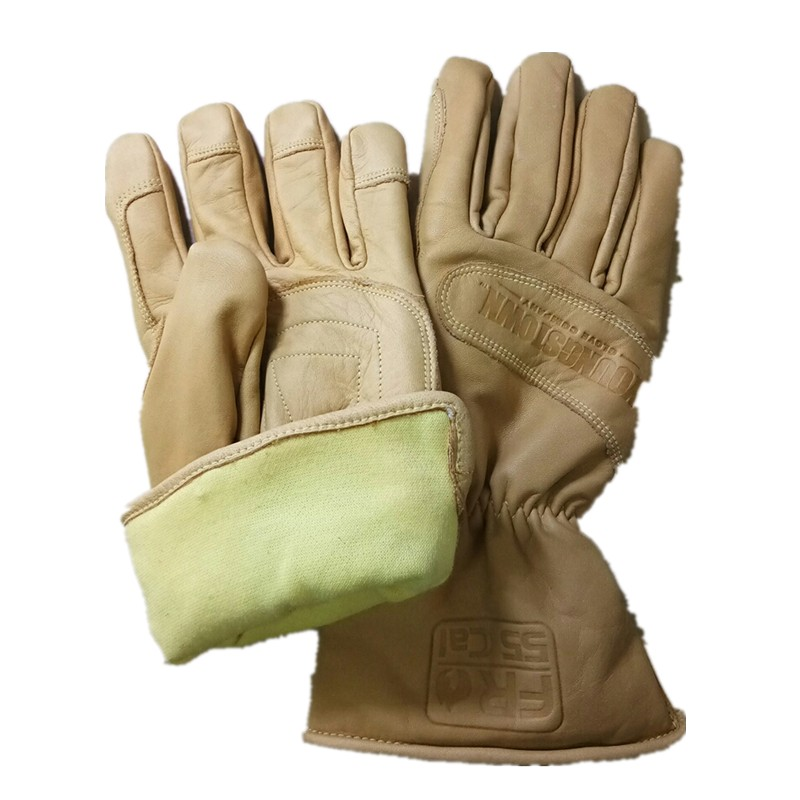All Cowhide Waterproof, Windproof, Warm, Flame Retardant, Oil Resistant And Cutting Resistant Working Gloves(Large))