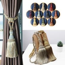 1Pc Tassel Tieback For Curtain Polyester Single Ball Curtain Holder Tie Home Decor Handmade Tassel Fringe Curtain Buckle Rope