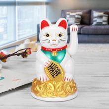 5 цветов Китайский Богатство счастливый развевающийся Кот Электрический Манеки Фортуна фэн шуй домашний Автомобиль статуи декор черный/белый/золото/серебро