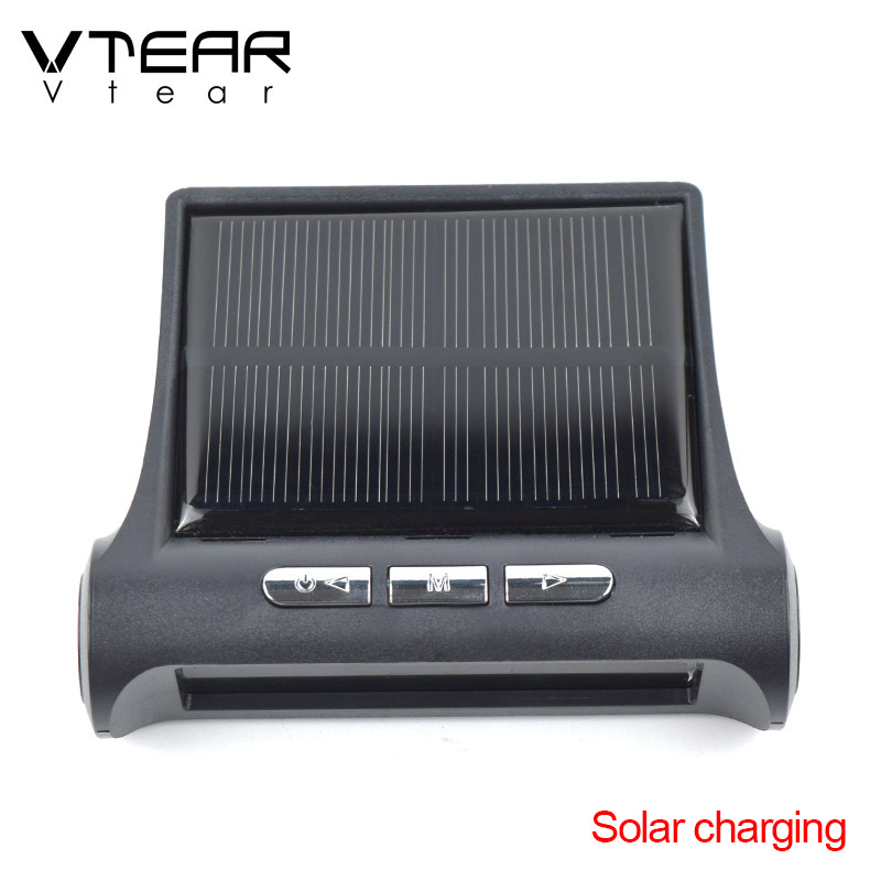 Image 5 - Vtear Car TPMS universal Smart Tyre Pressure Monitoring System Solar Power Digital LCD Display Auto Security Alarm Systems partsTire Pressure Monitor Systems   -