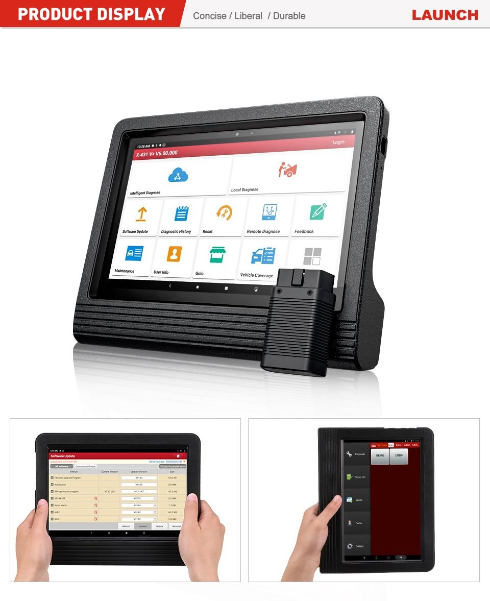 X431 PRO3 OBD2 Sistema Completo Versi/ón Global OBDII Herramienta De Diagn/óstico Esc/áner Para Android Tableta Wifi Esc/áner 2 A/ños De Actualizaci/ón Gratuita Launch X431 V+
