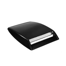 1PC Nero Automotive Corpo Universale Hood Decorativa Air Vent Bianco Argento Coperchio di Aspirazione Aria Auto(China)