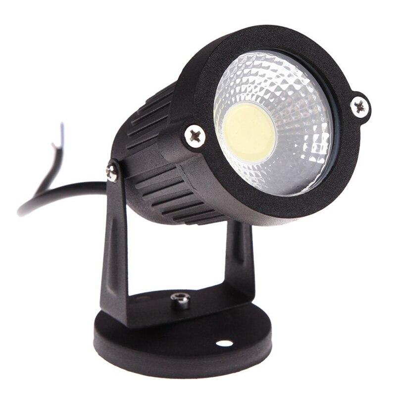 COB 3W 12V LED Lawn Light Waterproof LED Spotlight Garden Garden Light Outdoor Spotlight (no Pillars, Warm Colors)