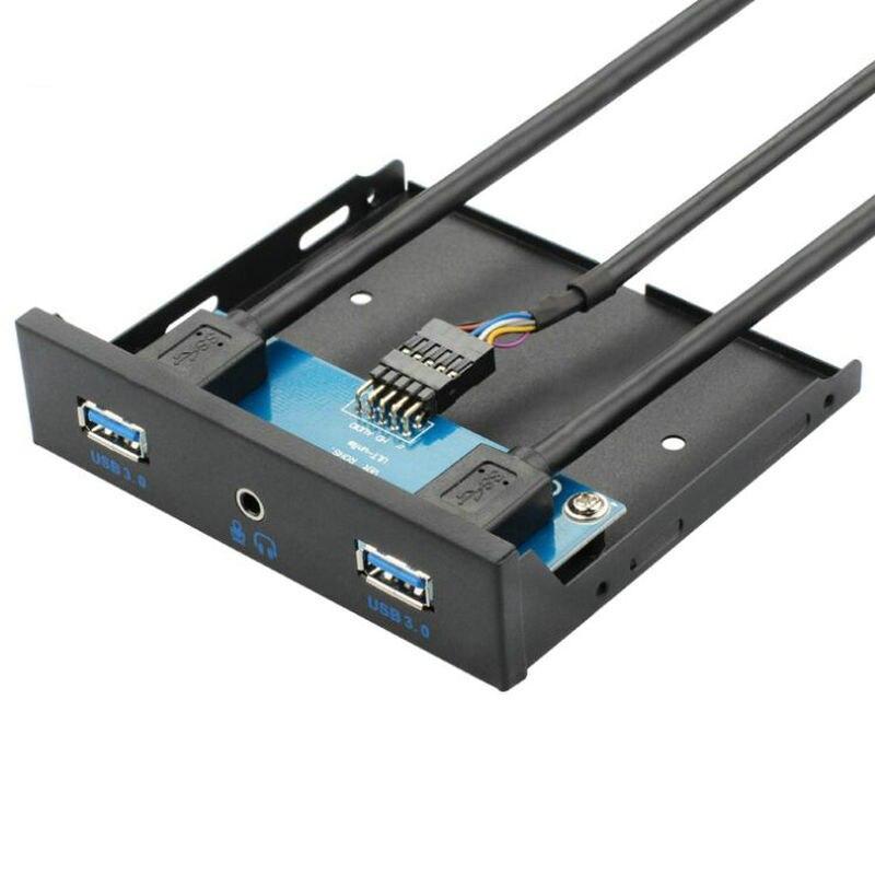 USB3.0 20Pin USB3.0 X 2 + Audio Earphone Interface Desktop Computer Floppy Drive Panel