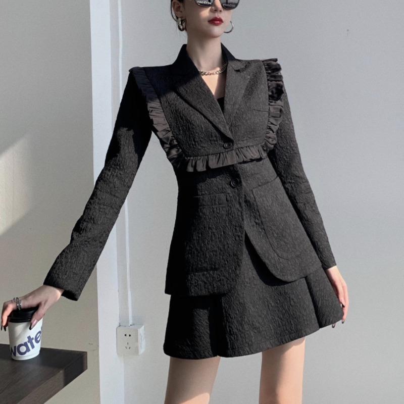 2021 spring chandal mujer Two Piece Set Women Blazers Skirt Suits chandal mujer ensemble femme jogging femme ropa mujer