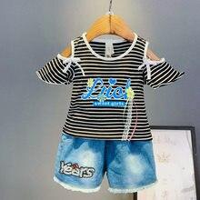 Novas meninas roupas de verão conjunto 2021 crianças moda algodão imprimir topos + shorts 2 pçs para crianças trasksuits conjuntos meninas roupas casuais
