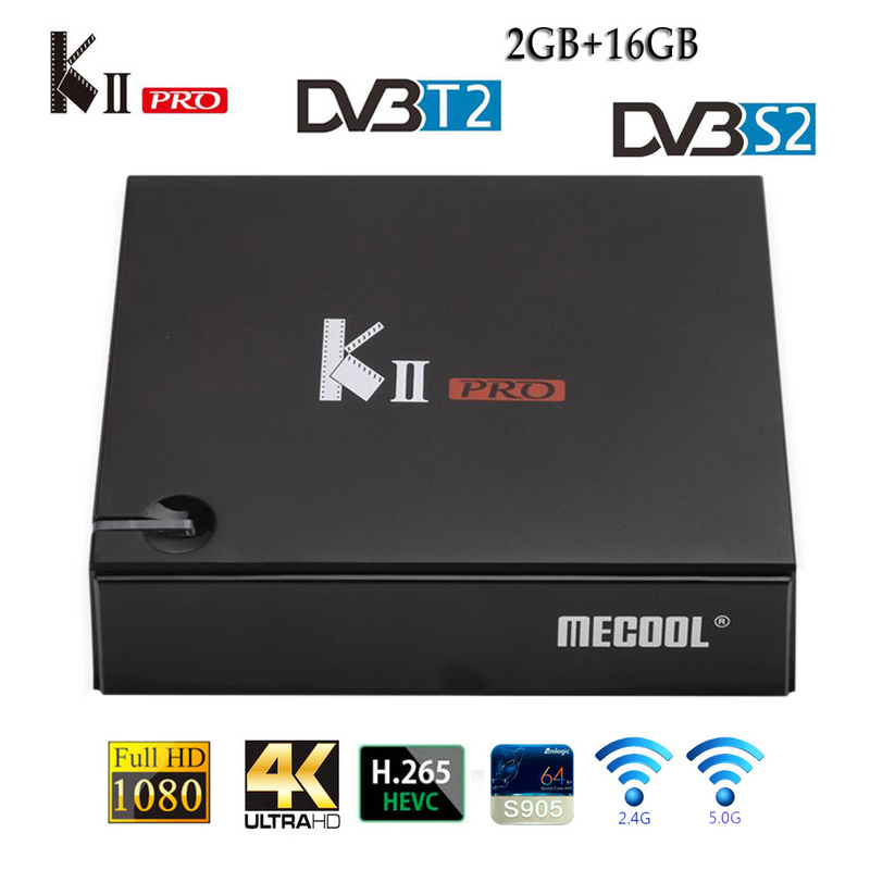 KII PRO Decoder DVB-S2 DVB-T2 Android 7.1 Smart TV Box S905d Quad Core 2GB 16GB K2 Pro 4K Media Player Dvb T2 S2 Dual Wifi BT4.0
