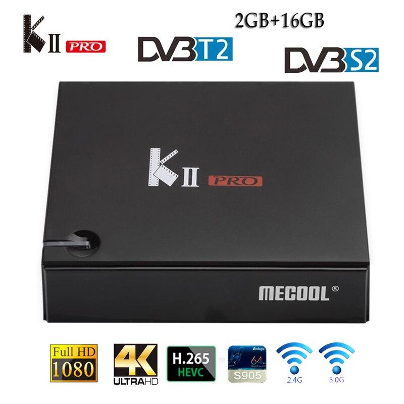 KII PRO décodeur DVB-S2 DVB-T2 Android 7.1 Smart TV Box S905d Quad Core 2GB 16GB K2 pro 4K lecteur multimédia dvb t2 s2 double Wifi BT4.0