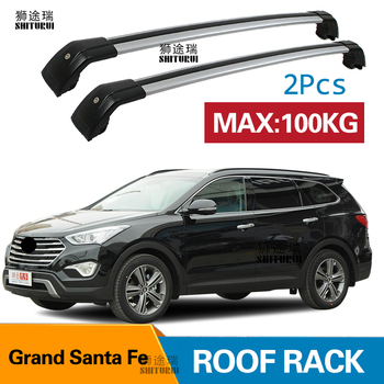 SHITURUI 2Pcs Roof bars For Hyundai  Grand Santa Fe SUV 2013-2020  Aluminum Alloy Side Bars Cross Rails Roof Rack Luggage