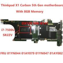Lenovo Thinkpad X1 Carbon 5th Gen I7 7500U Laptop Motherboard RMA 8GB FRU01YN044 01AY079 01YN047 01AY082 100% tested ok