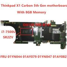레노버 Thinkpad X1 탄소 5th Gen I7 7500U 노트북 마더 보드 RMA 8GB FRU01YN044 01AY079 01YN047 01AY082 100% 테스트 ok