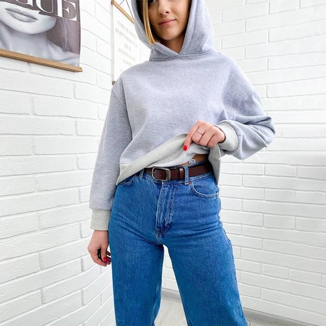 GOPLUS 2021 New Brand Hoodie Streetwear Hip Hop Black White Gray Hooded Hoodies Drop-Shoulder Short Hoodies and Sweatshirts 4