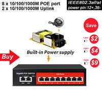 SZSSCEE prise en charge du commutateur Poe Gigabit 10 ports Ieee802.3af/at caméras Ip et commutateur réseau standard AP sans fil 10/100/1000Mbps