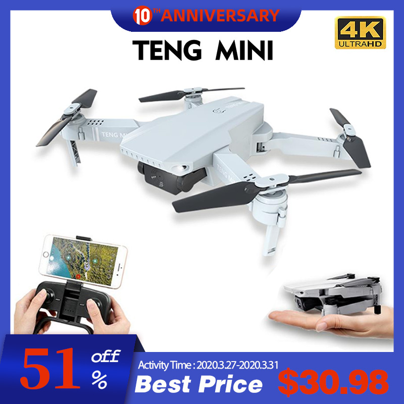 KF609 Drone 4K 720P HD Camera RC Mini Foldable Quadcopter WIFI FPV Selfie Optical Flow Quadcopter RC Helicopter Toy For Kids