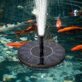 Pływające fontanna solarna ogród fontanna-wodospad basen staw oczko wodne oczko wodne Panel zasilany energią słoneczną fontanna pompa wody ogród dekoracji tanie i dobre opinie CN (pochodzenie)