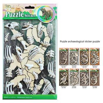 New arrival  Mini dinosaur Jigsaw 3D Space Puzzle Creative Toy Puzzles Gift For Children
