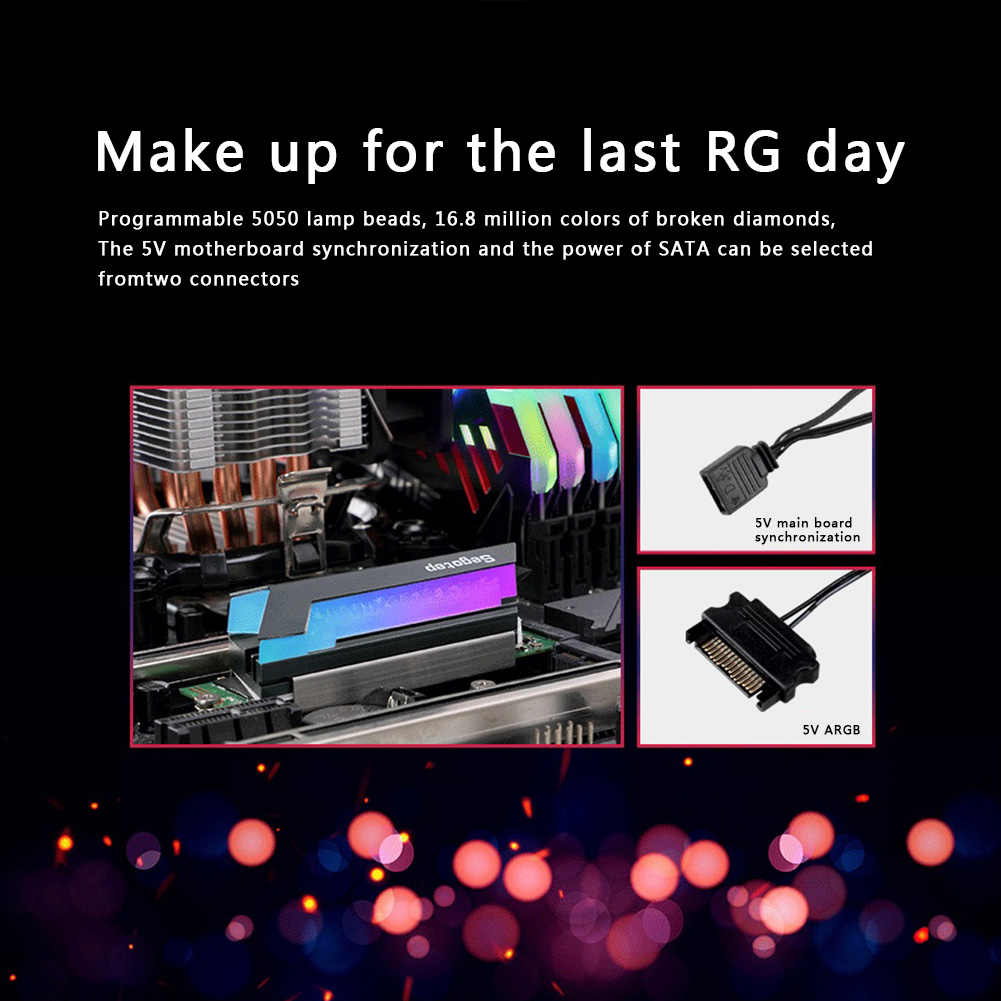 Rgb M.2 Ssd Heatsink Ngff 2280 Nvme Solid State Drive Cooler Voor Desktop Pc Computer Ondersteuning Dropshipping