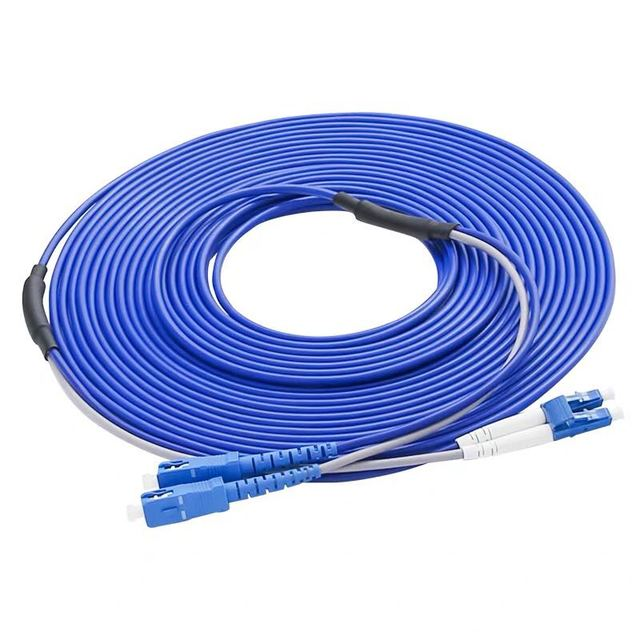 SC/UPC to LC/UPC Armored Fiber Patch Cable Duplex Single Mode Armored optical Patch cord