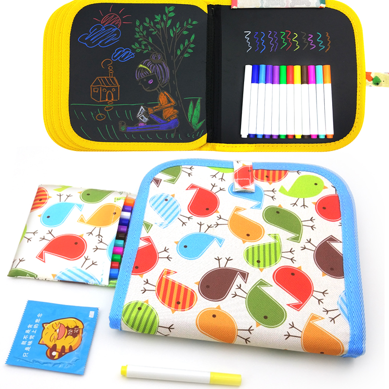 Drawing Toys For Children Water Drawing Book Portable Chalk Board Cartoon DIY Coloring Book Brush Kids Painting Toys Sets