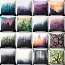 Чехол для диванной подушки в виде дерева 45x45 см