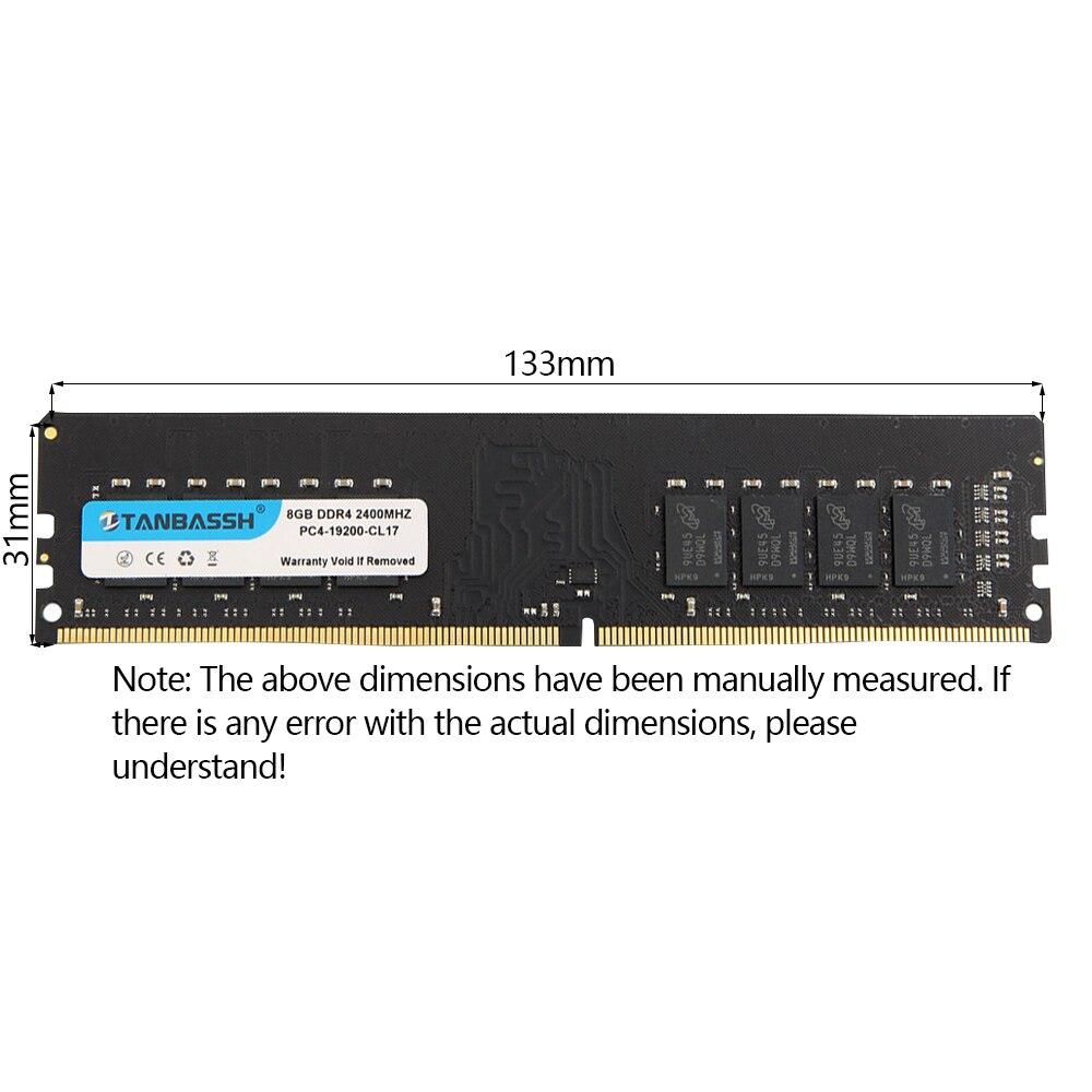 TANBASSH Memory Support Ram-2400mhz Ddr4 4gb Desktop 16gb 2666mhz DIMM 8GB PC