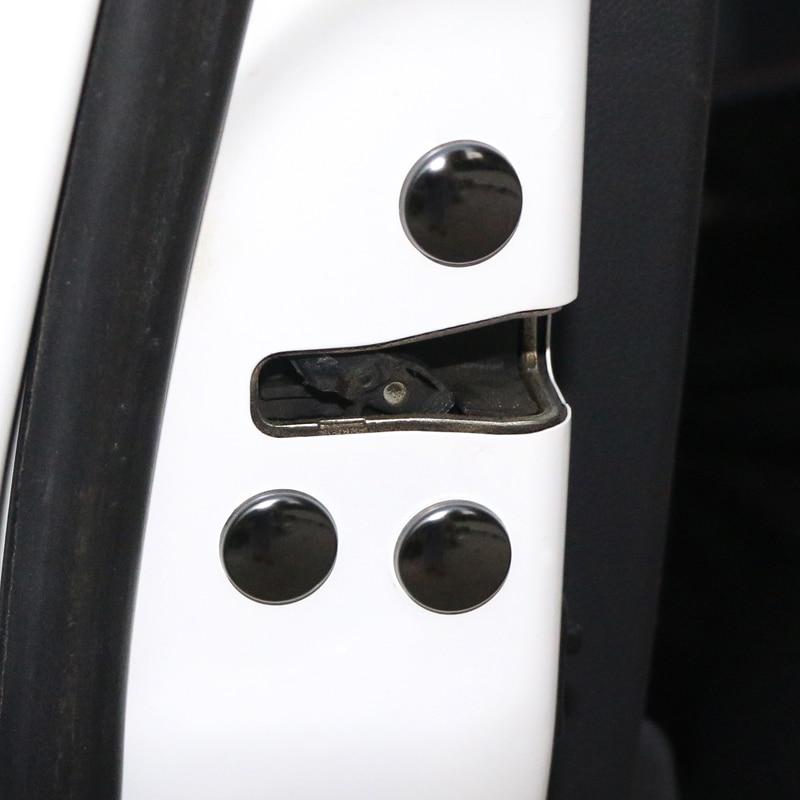 12PCS Universal Car Interior Door Lock Screw Protector Nuts Bolts Cover Cap For Toyota Yaris Auris Hilux Corolla Camry RAV4 TRD